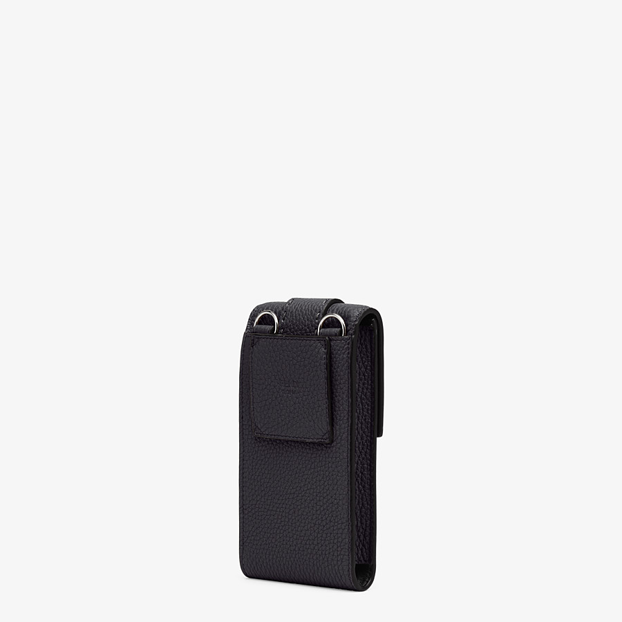 FENDI iPHONE X CASE - Black leather cover - view 2 detail