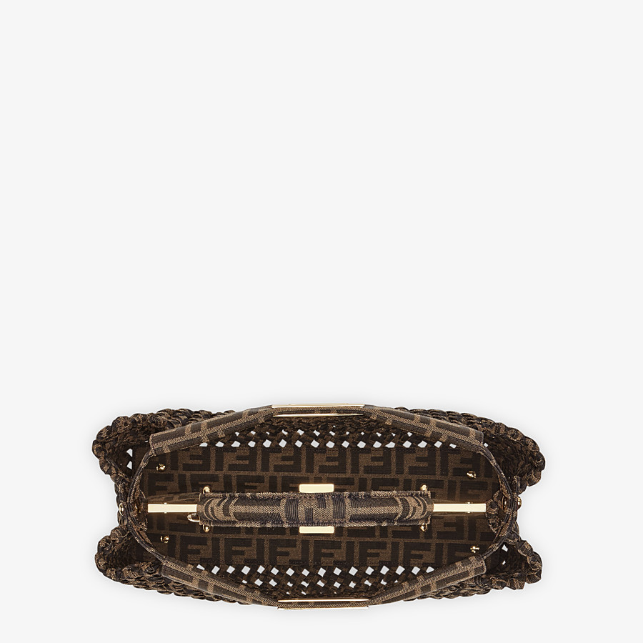 FENDI PEEKABOO ICONIC MEDIUM - Jacquard fabric interlace bag - view 5 detail