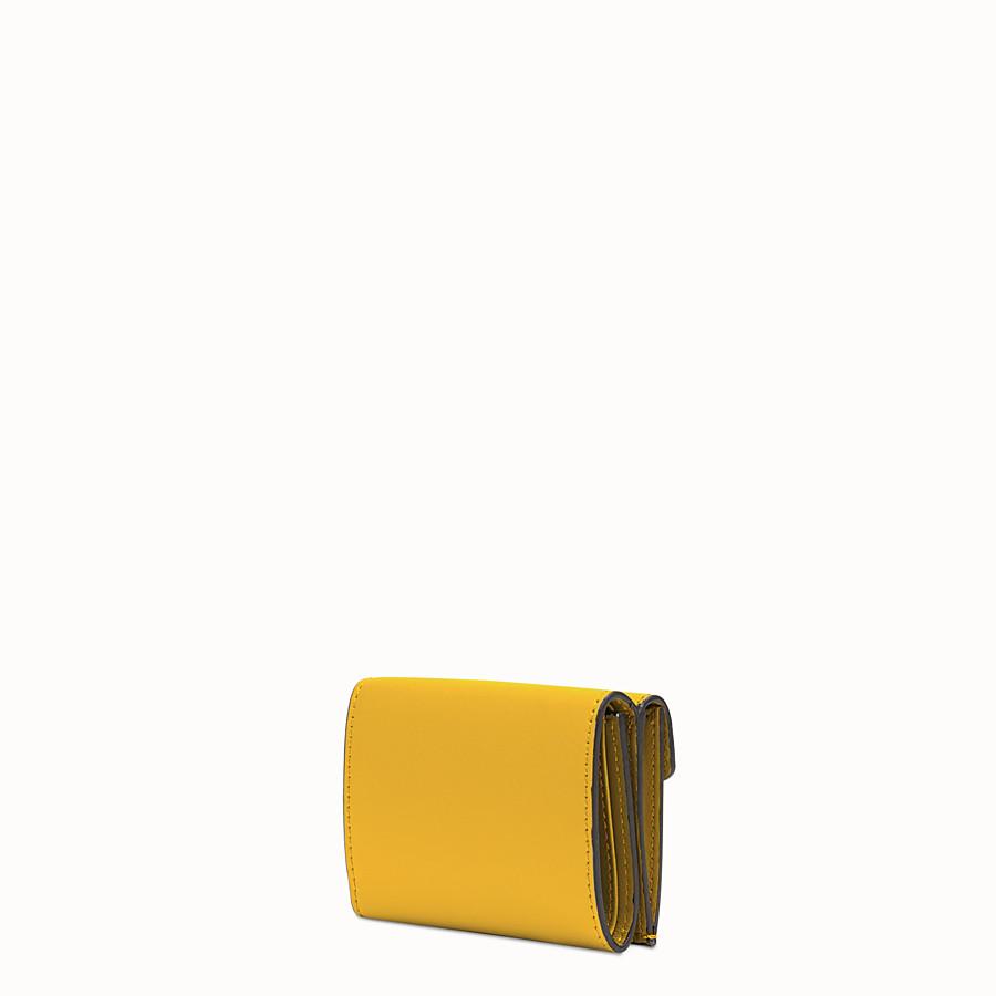 FENDI MICRO TRIFOLD - Yellow leather wallet - view 2 detail