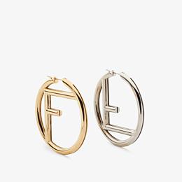 FENDI F IS FENDI EARRINGS - Gold and palladium earrings - view 1 thumbnail