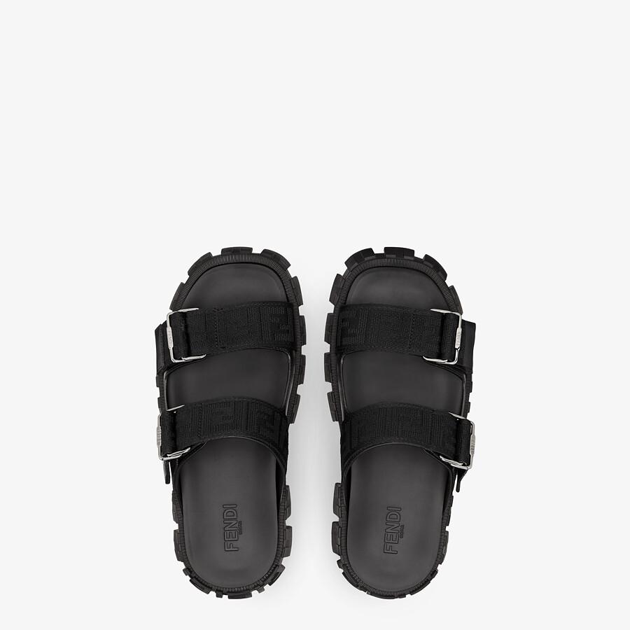 FENDI SANDALS - Black fabric sandals - view 4 detail
