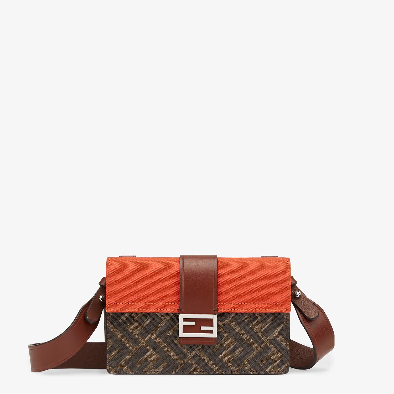 FENDI BAGUETTE POUCH - Brown fabric bag - view 1 detail