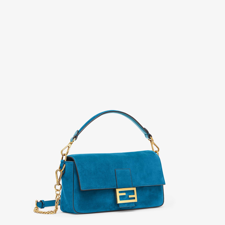 FENDI BAGUETTE - Blue suede bag - view 2 detail