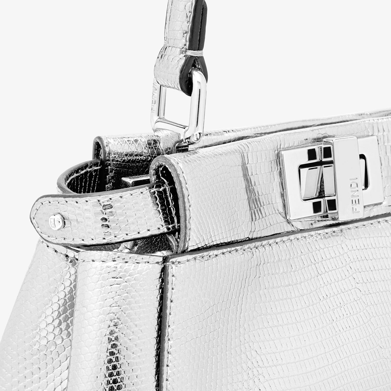FENDI PEEKABOO ICONIC XS - Mini-bag in silver lizard - view 5 detail