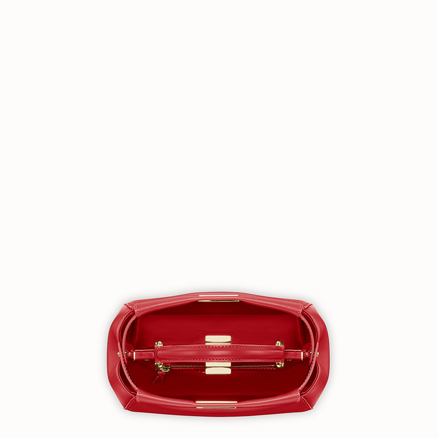 FENDI PEEKABOO ICONIC MINI - Tasche aus Leder in Rot - view 4 detail