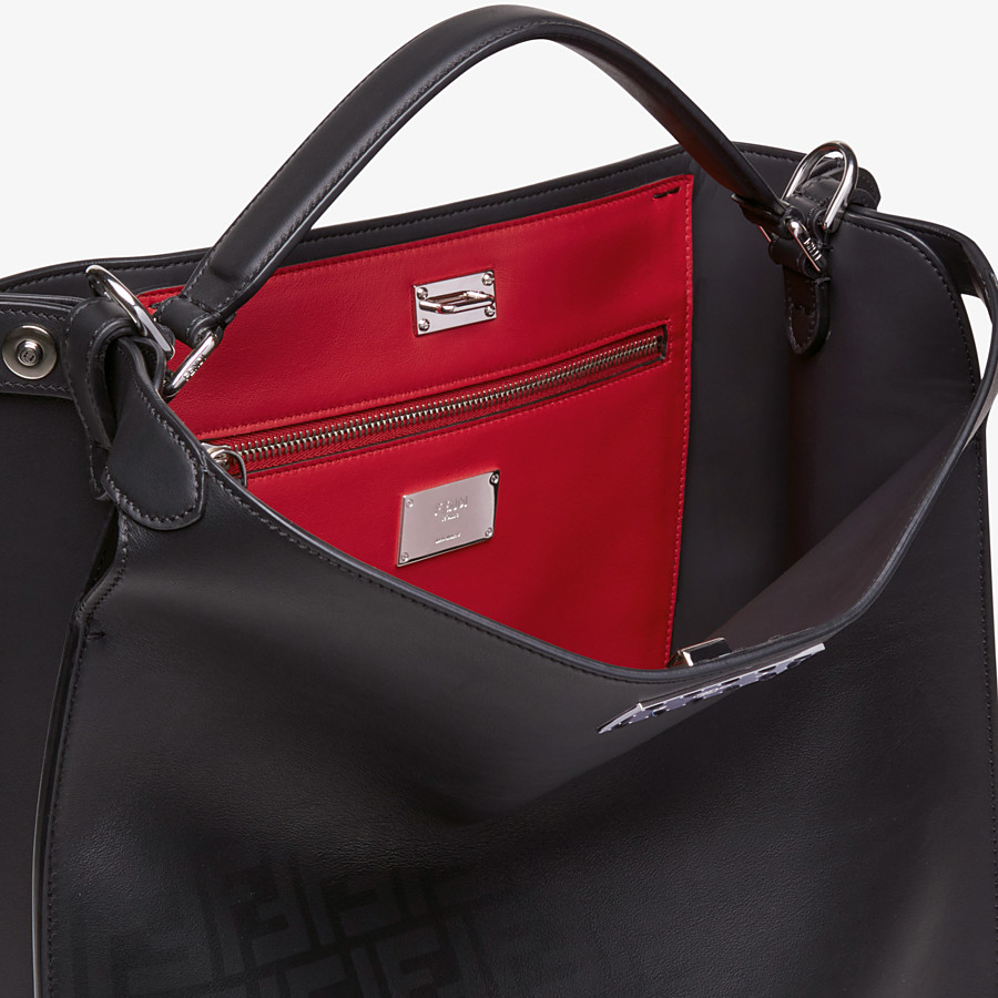 FENDI PEEKABOO X-LITE FIT - Black calfskin bag - view 6 detail