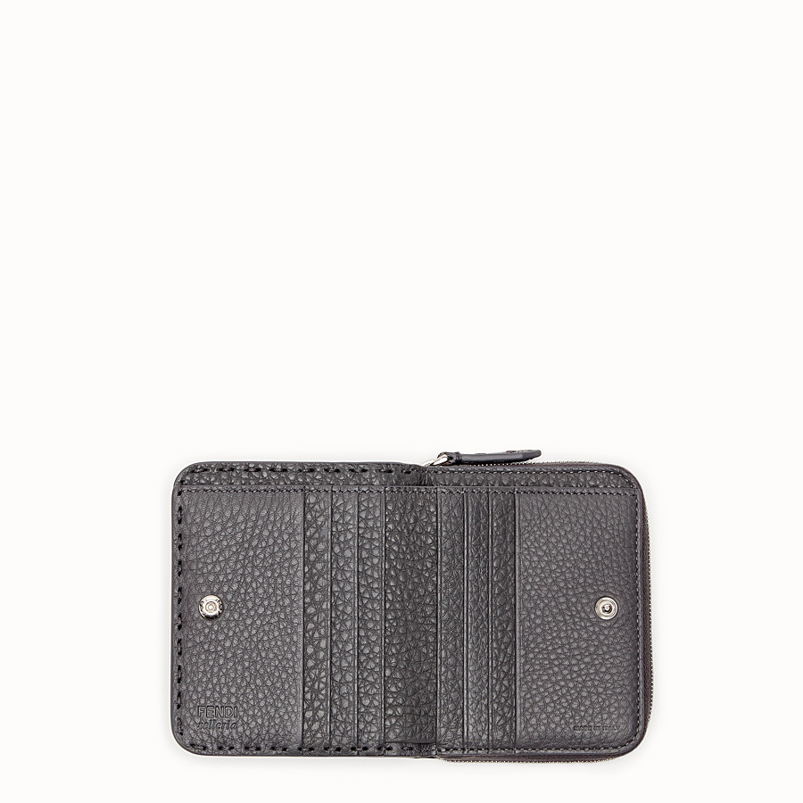 FENDI MEDIUM ZIP-AROUND - Grey leather wallet - view 4 detail