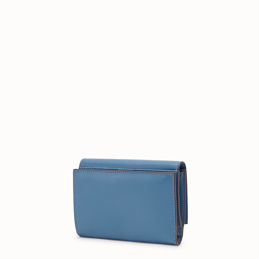 FENDI CONTINENTAL MEDIUM - Blue leather wallet - view 2 detail