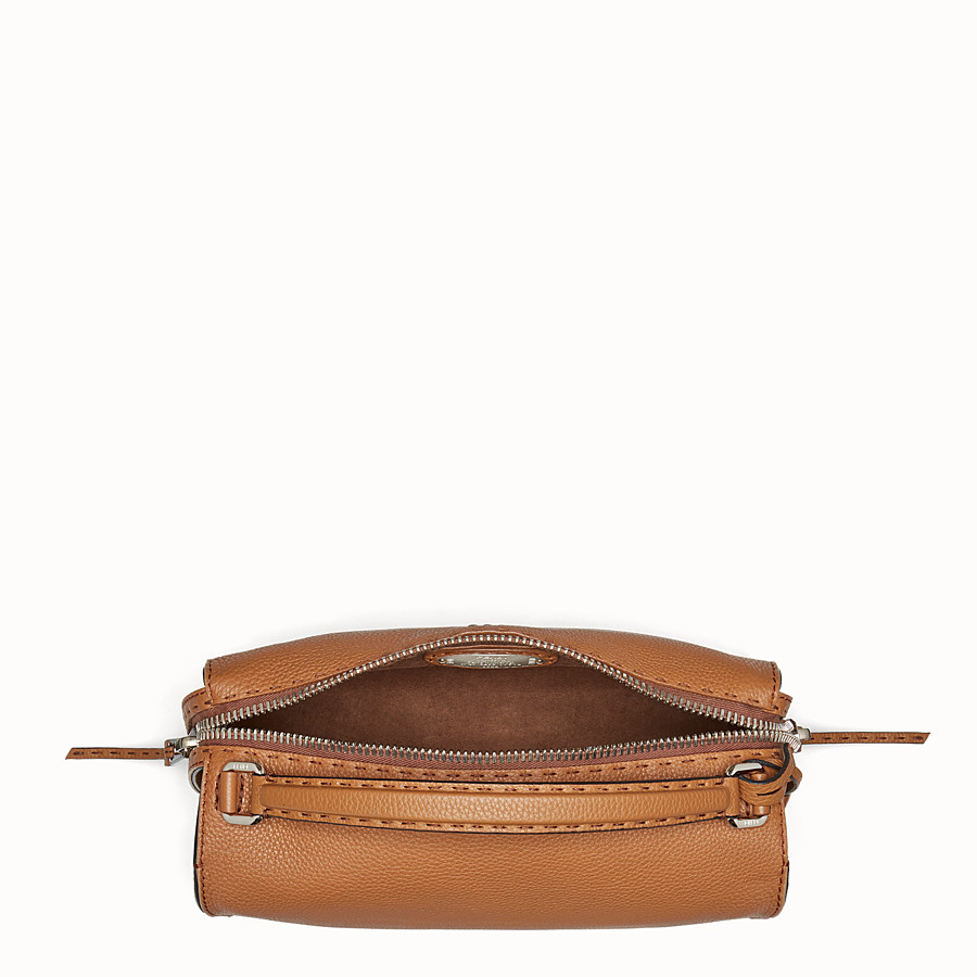 FENDI LEI SELLERIA BAG - Toffee Roman leather Boston bag - view 4 detail