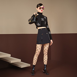 FENDI ROCK - Rock aus Gabardine in Schwarz - view 4 thumbnail