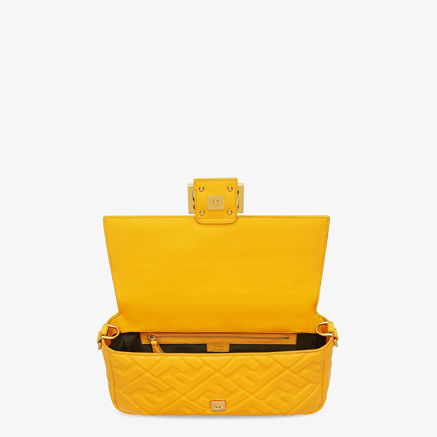FENDI BAGUETTE - Orange nappa leather bag - view 5 detail