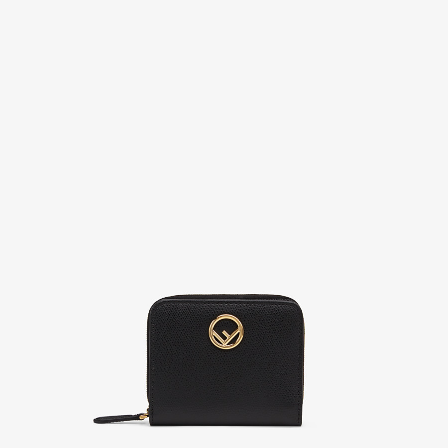 FENDI MEDIUM ZIP-AROUND - Black leather wallet - view 1 detail