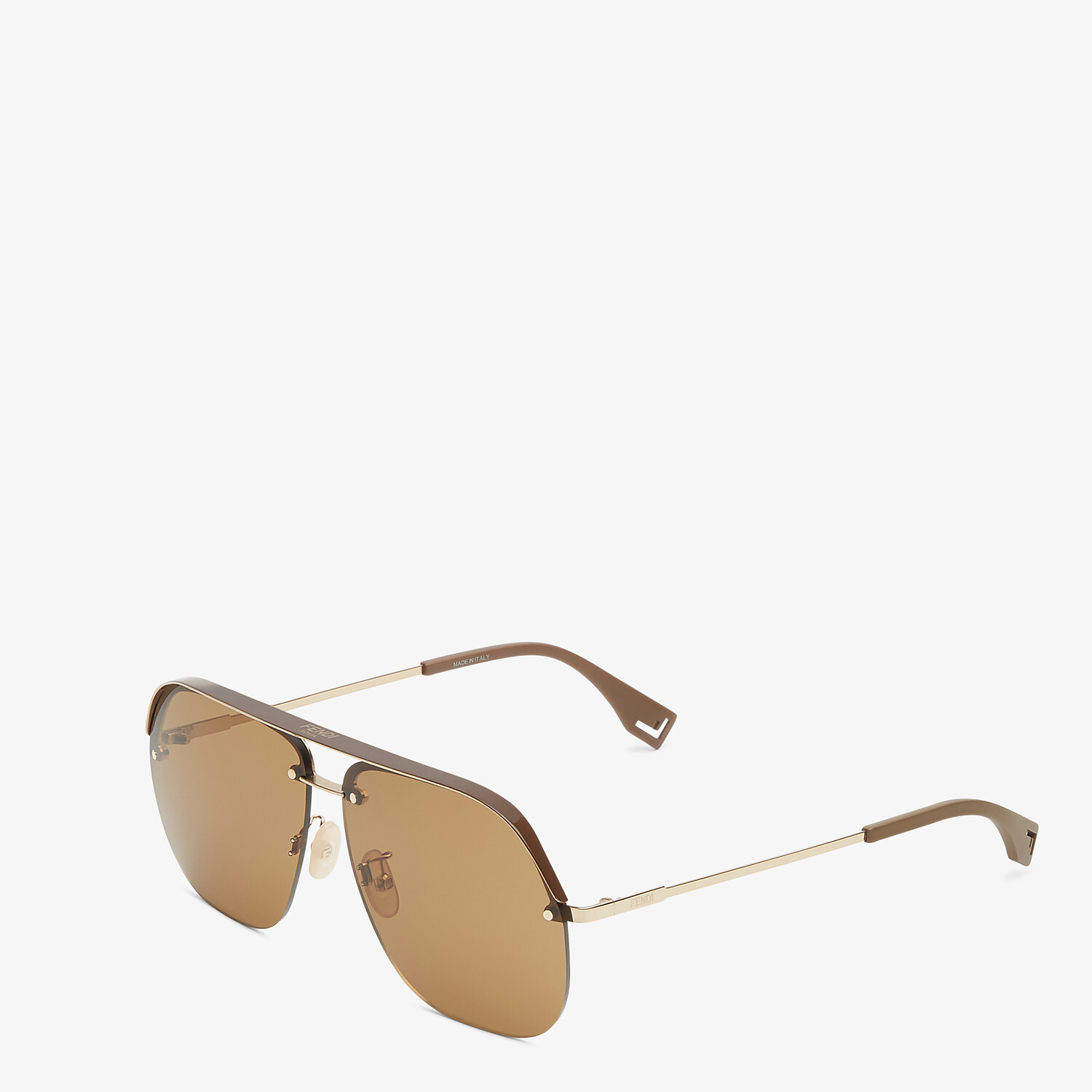 FENDI FENDI PACK - Brown sunglasses - view 2 detail