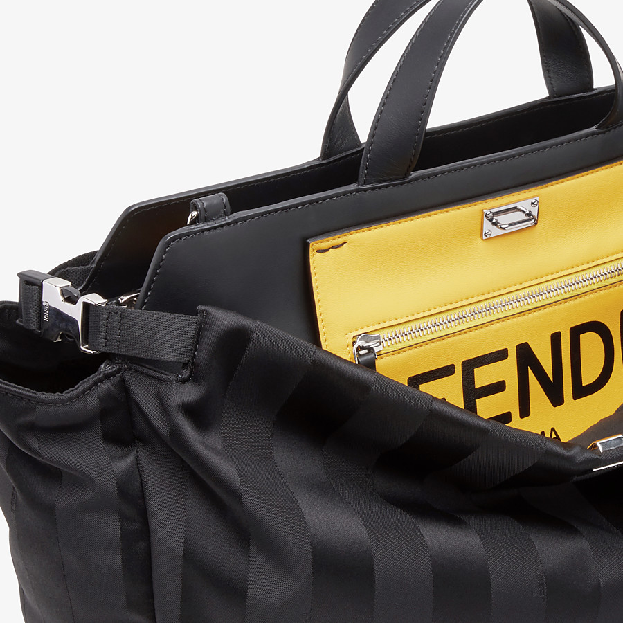 FENDI PEEKABOO ICONIC MEDIUM - Black nylon bag - view 6 detail