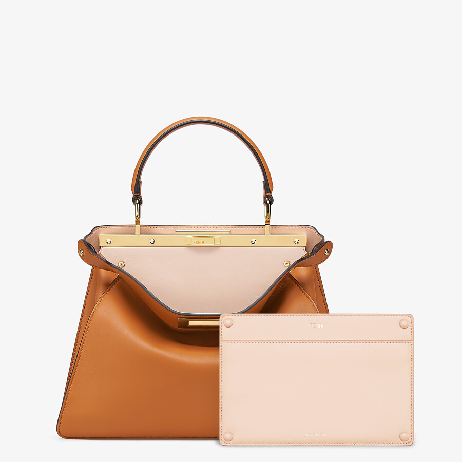 FENDI PEEKABOO ISEEU MEDIUM -  Brown leather bag - view 3 detail