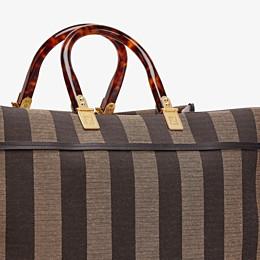 FENDI SUNSHINE SHOPPER - Shopper in brown fabric - view 6 thumbnail
