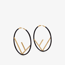 FENDI F IS FENDI EARRINGS - Gold and black coloured earrings - view 1 thumbnail
