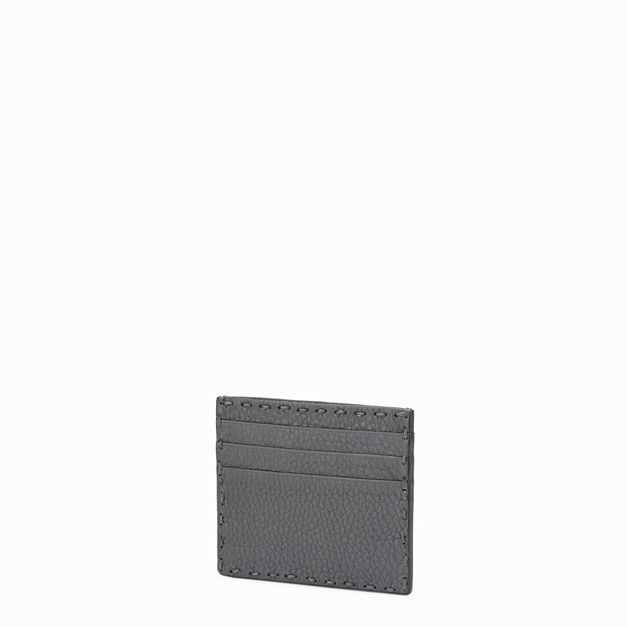 FENDI CARD HOLDER - Selleria 6-slot card holder in grey - view 2 detail