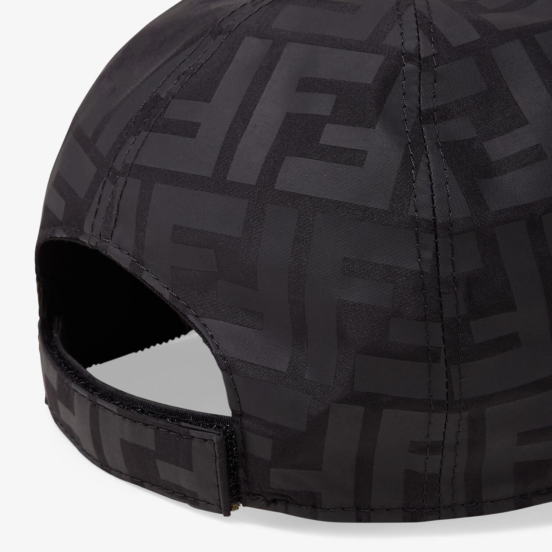 FENDI JUNIOR BASEBALL CAP - Matte black nylon junior baseball cap - view 3 detail