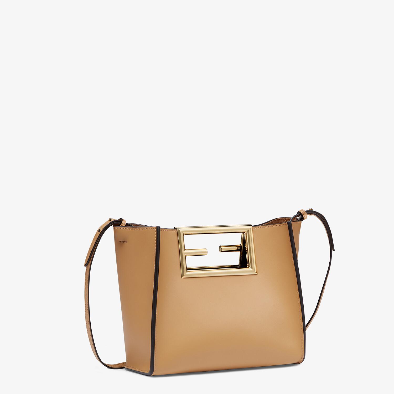 FENDI FENDI WAY SMALL - Beige leather bag - view 2 detail