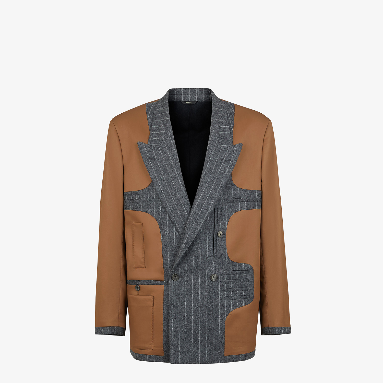 FENDI JACKET - Multicolor silk and wool blazer - view 1 detail