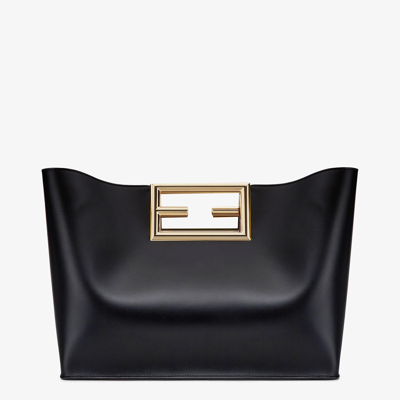 FENDI FENDI WAY MEDIUM - Black leather bag - view 4 detail