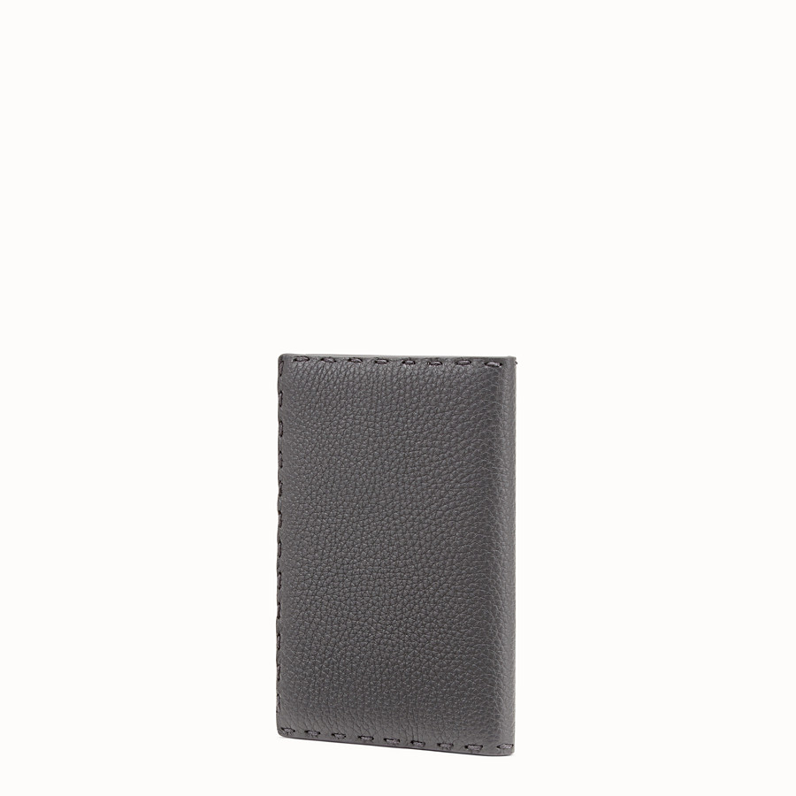 FENDI PASSPORT COVER - Grey leather passport cover - view 2 detail