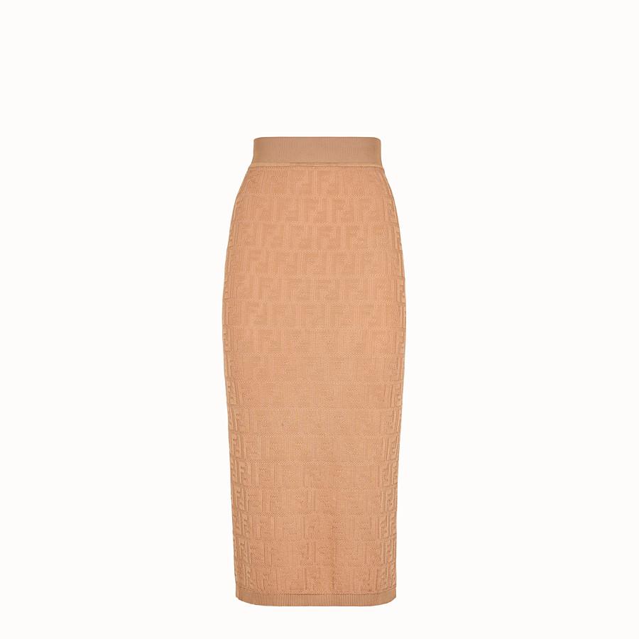 FENDI SKIRT - Beige cotton and viscose dress - view 1 detail