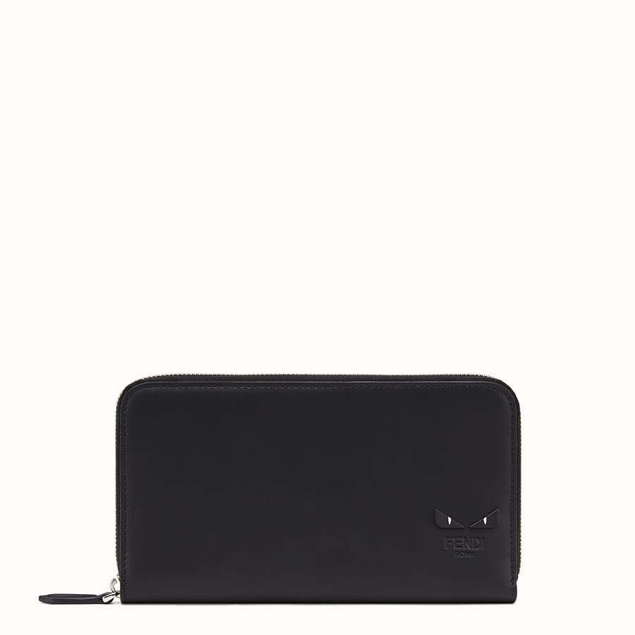 FENDI CONTINENTAL - Black leather wallet - view 1 detail