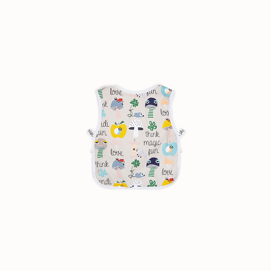 FENDI BUNX BIB - White, beige and multicolour jersey bib - view 2 detail