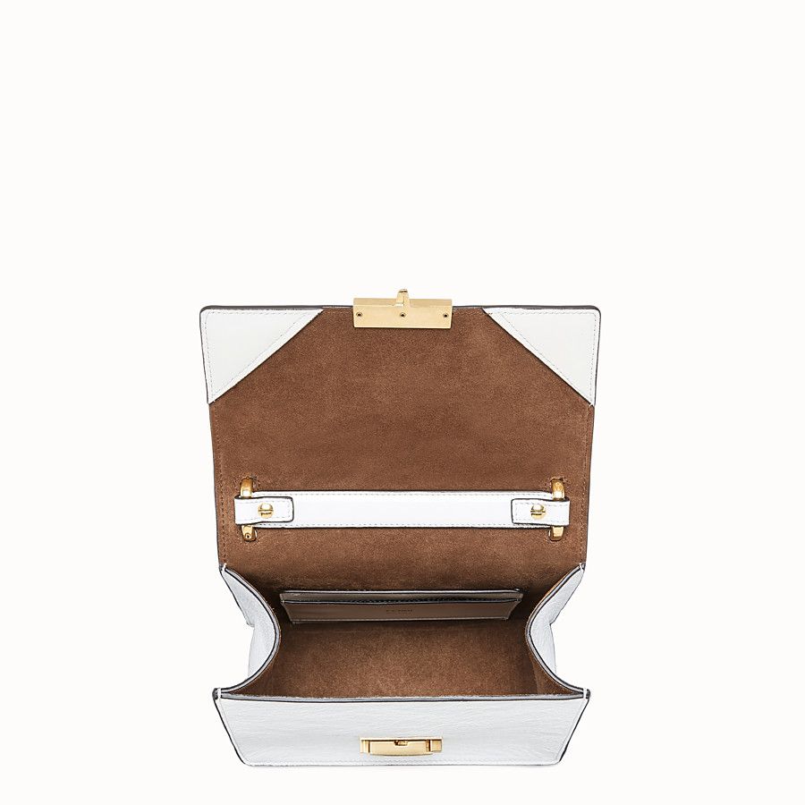 FENDI KAN U SMALL - White leather mini-bag - view 5 detail
