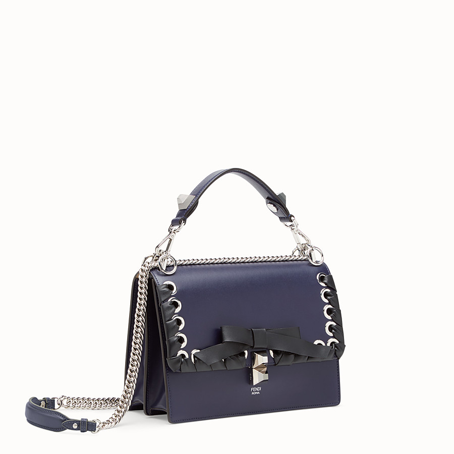 FENDI KAN I - Blue leather bag - view 2 detail