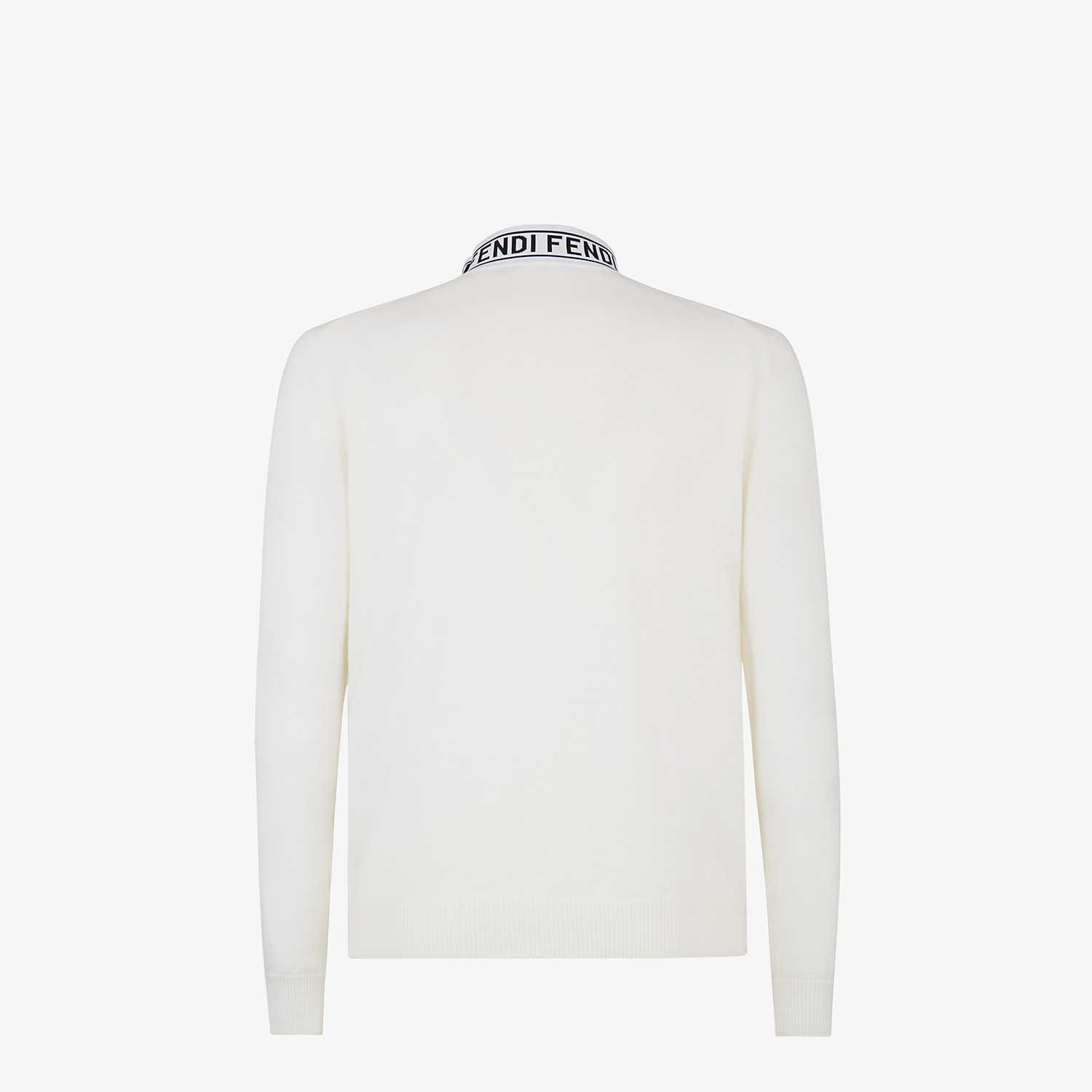 FENDI TURTLENECK - White wool sweater - view 2 detail