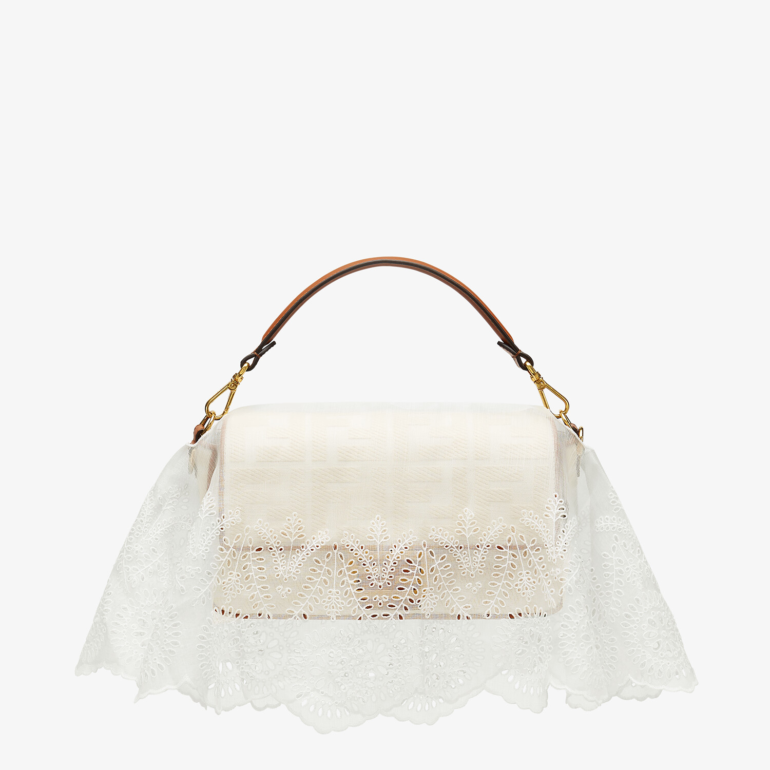 FENDI BAGUETTE COVER - White silk cover - view 3 detail