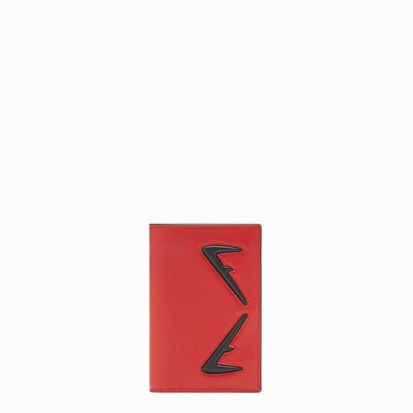 FENDI CARD HOLDER - Red leather wallet - view 1 small thumbnail