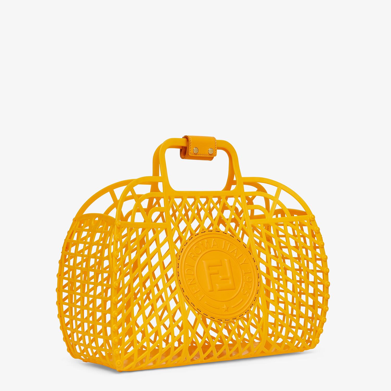 FENDI FENDI BASKET MEDIUM - Minibag in plastica riciclata arancione - vista 3 dettaglio