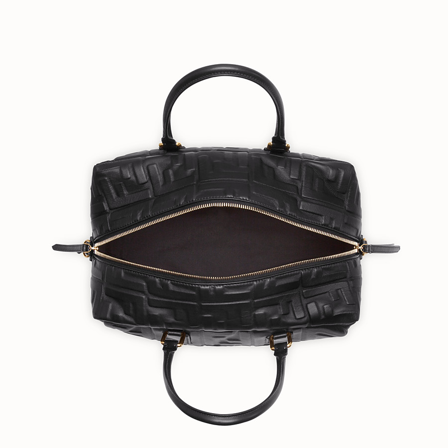 FENDI BOSTON SMALL - Black leather Boston bag - view 4 detail