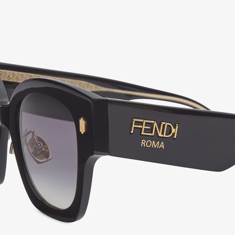 FENDI FENDI ROMA - Black acetate sunglasses - view 3 detail