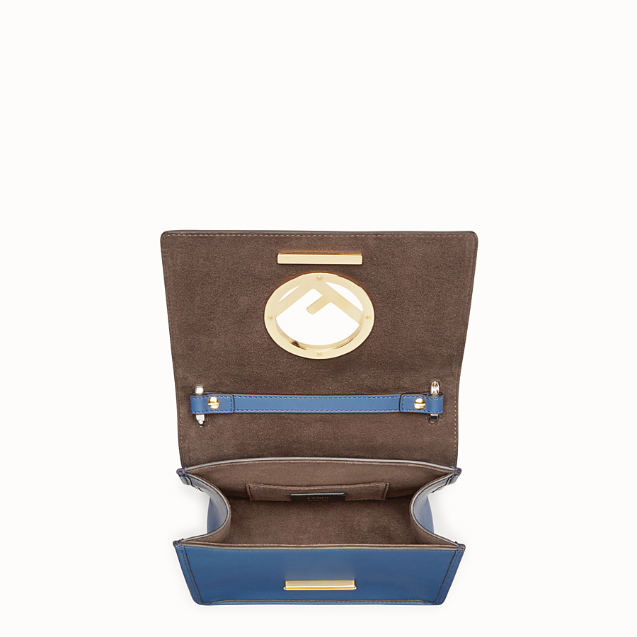 FENDI KAN I F SMALL - Dark blue leather mini-bag - view 4 detail