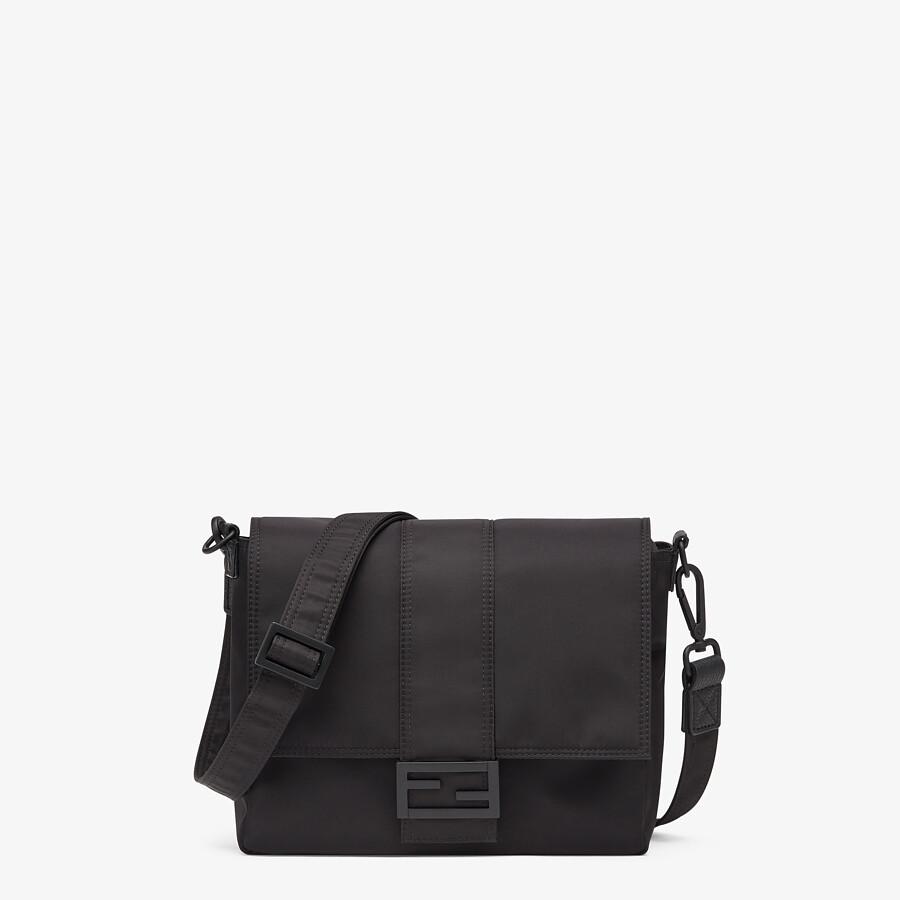 FENDI BAGUETTE MESSENGER BAG MEDIUM - Black nylon bag - view 1 detail