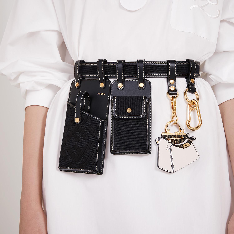 FENDI CINTURA - Cintura in pelle nera - vista 3 dettaglio