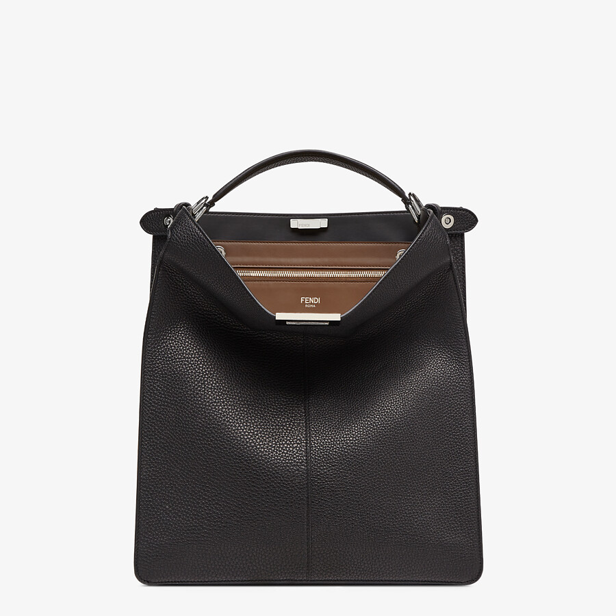 FENDI PEEKABOO ISEEU TOTE - Black leather bag - view 2 detail