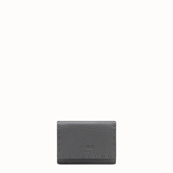 FENDI MICRO TRIFOLD - Grey leather wallet - view 1 small thumbnail