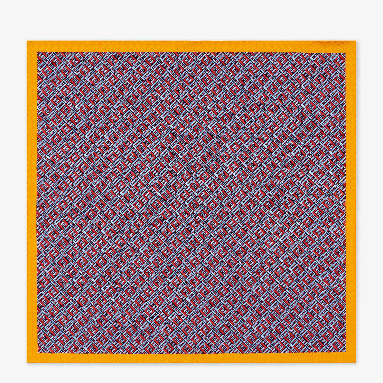 FENDI FF FOULARD - Light blue silk foulard - view 1 detail