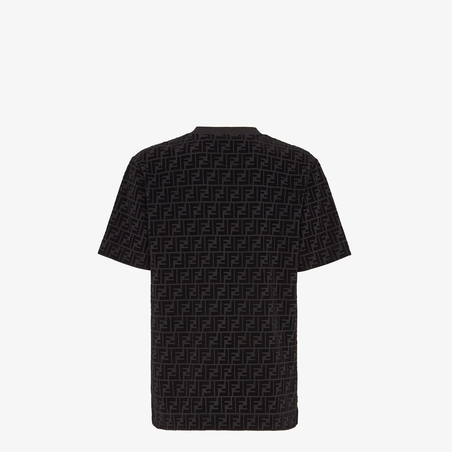 FENDI T-SHIRT - T-shirt in black piqué - view 2 detail
