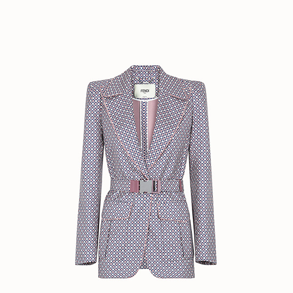 FENDI JACKET - Multicolour silk blazer - view 1 small thumbnail