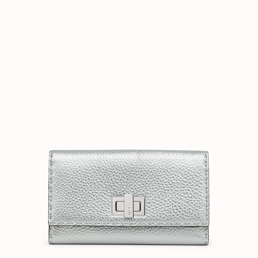 FENDI WALLET - in silver Roman leather - view 1 detail