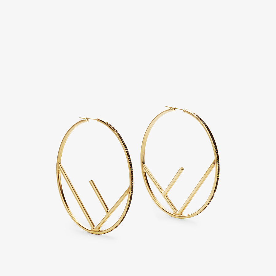 FENDI F IS FENDI EARRINGS - Gold-colour earrings - view 1 detail