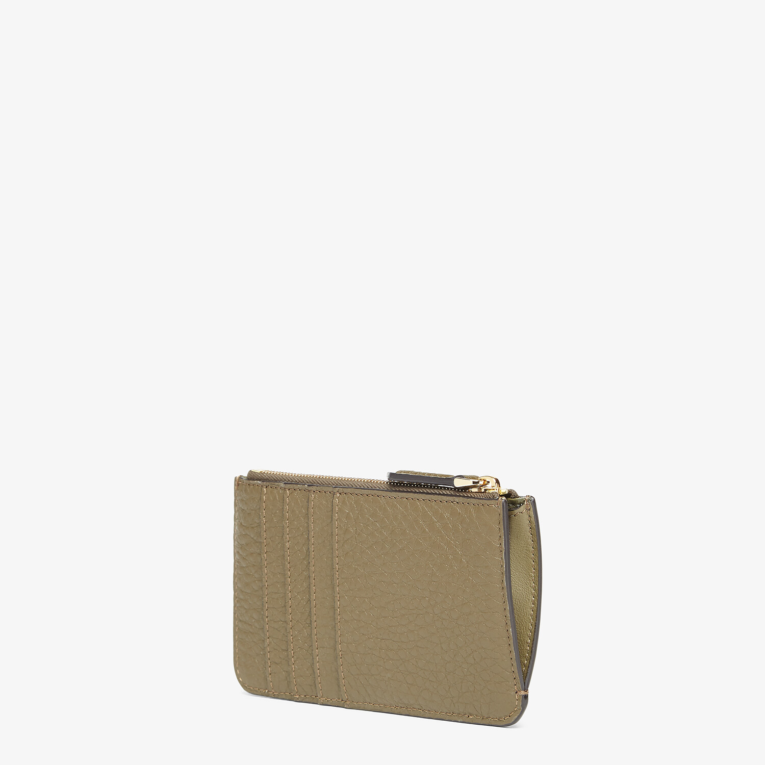 FENDI KEY CASE POUCH - Brown leather pouch - view 2 detail