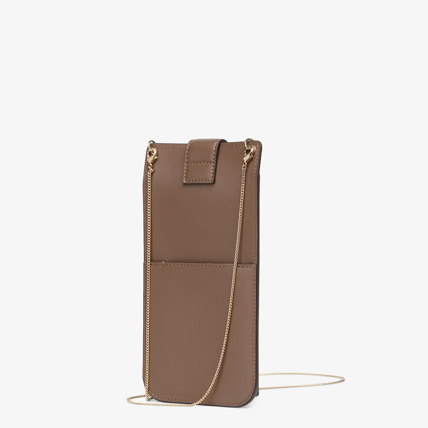 FENDI PHONE POUCH - Brown leather pouch - view 2 detail